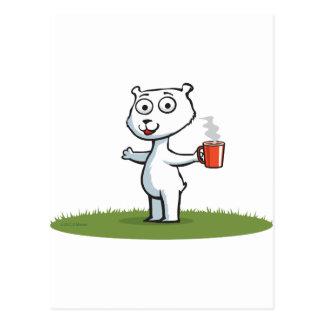 Café del oso polar postal