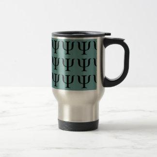 Café del símbolo de la psicología/taza elegantes taza de viaje