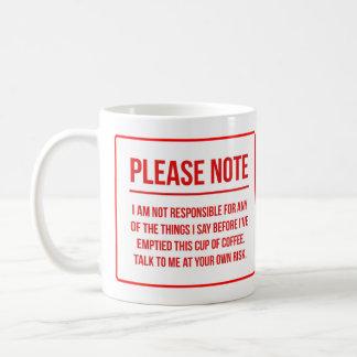 Café divertido de la negación de la taza de café