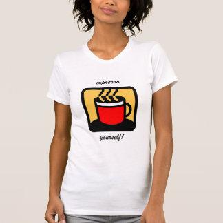 Café divertido del expresso camiseta