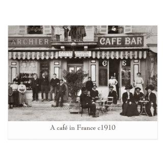 Café en postal de la sepia de Francia