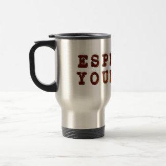 Café express usted mismo taza de viaje