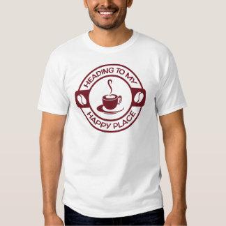 Café feliz Borgoña del lugar A257 Camiseta