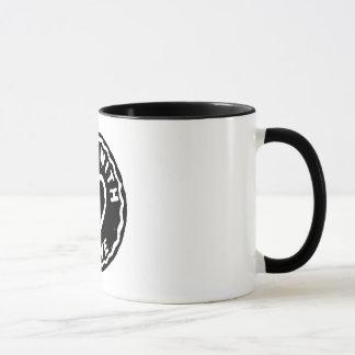 Café hecho con la taza del desayuno del amor