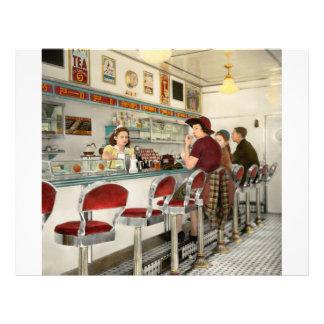 Café - la lugar frecuentada local 1941 flyer