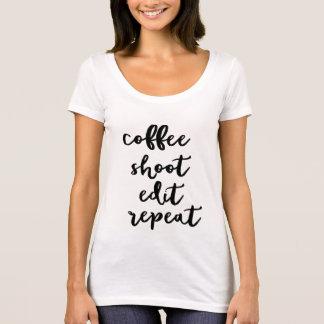 Café. lanzamiento. corrija. repetición - camiseta