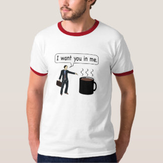 Café, le quiero en mí camiseta