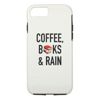 Café, libros y lluvia funda iPhone 7