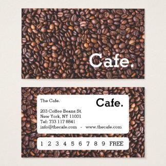 Café marrón moderno de la tarjeta perforada de la