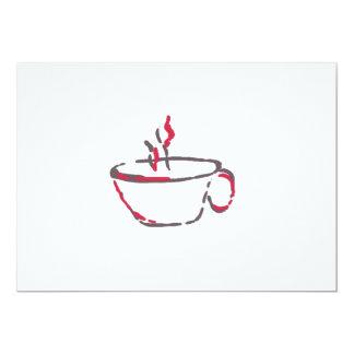 ¿Café o té? Invitación 12,7 X 17,8 Cm