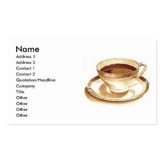Café o té plantillas de tarjetas de visita