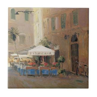 Café Roma Azulejo Cuadrado Pequeño