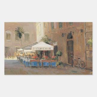 Café Roma Pegatina Rectangular