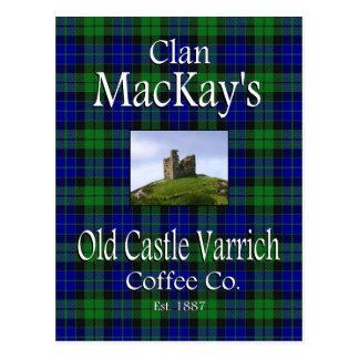 Café viejo Co. de Varrich del castillo de MacKay Postal
