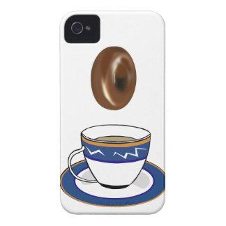 Café y anillos de espuma: Caja divertida de iPhone 4 Case-Mate Cárcasa