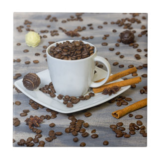 Café y especias azulejo de cerámica