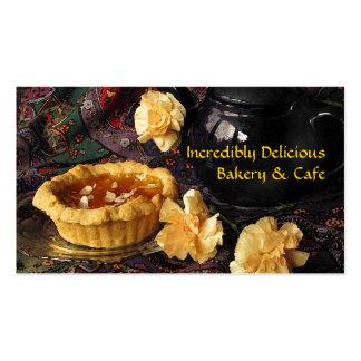 Café y panadería tarjetas personales