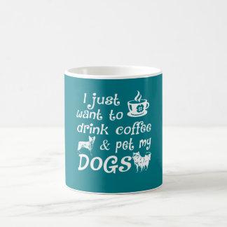 Café y perros taza de café