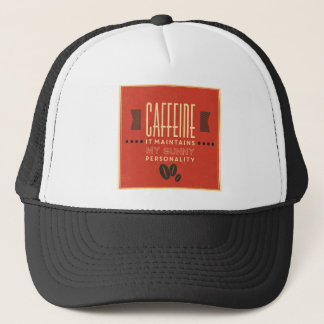 Cafeína mantiene mi personalidad soleada gorra de camionero