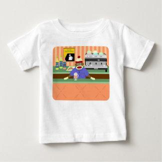 Cafetería Barista del mono del calcetín Camiseta De Bebé