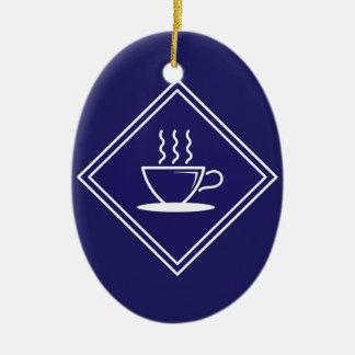 Cafetería/restaurante, señal de tráfico, Honduras Ornaments Para Arbol De Navidad