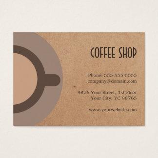 Cafetería única 4. de la parte posterior de la tarjeta de negocios