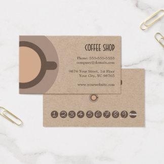 Cafetería única simple de la tarjeta de la lealtad