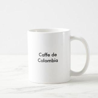 Caffe de Colombia Taza Básica Blanca
