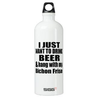 Caída con mi Bichon Frise Botella De Agua