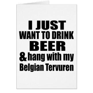 Caída con mi Tervuren belga Tarjeta