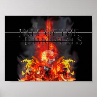 Caída de los Immortals (poster) Póster