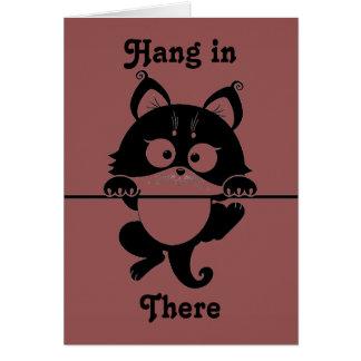 Caída en allí tarjeta de felicitación del gato