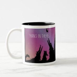 Caída en allí taza de café
