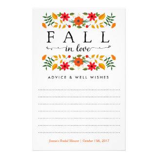 Caída en el amor, tarjetas nupciales del consejo folleto 14 x 21,6 cm