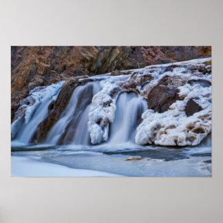 Caídas congeladas en Colorado Póster