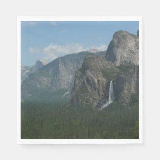 Caídas de Bridalveil y media bóveda en Yosemite Servilleta Desechable