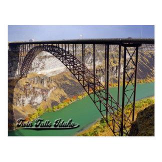 Caídas del gemelo, postal de Idaho