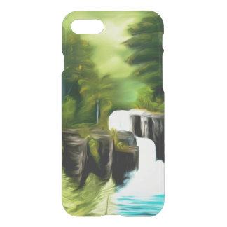 Caídas verdes míticas de la fantasía funda para iPhone 7