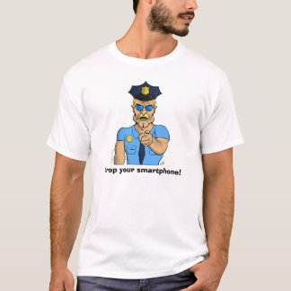 Caiga su Smartphone - camiseta enojada del poli