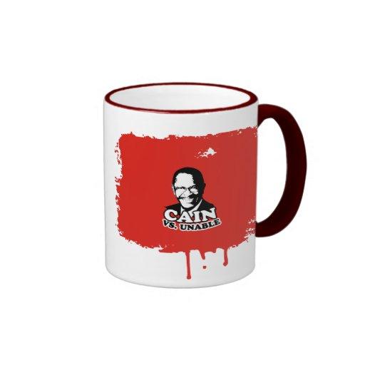 Caín contra (2) incapaz taza de café