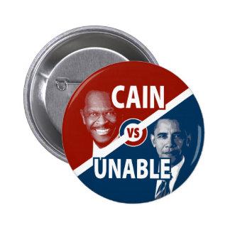 Caín contra el botón incapaz de la campaña de