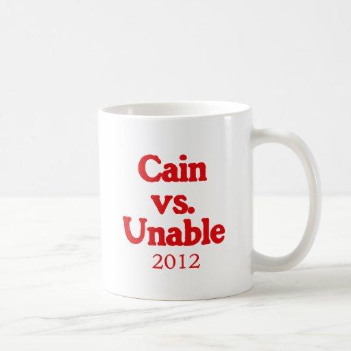Caín contra incapaz tazas de café