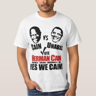 Caín contra incapaz - voto Herman Caín Camisetas