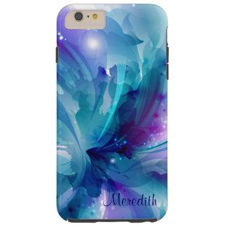 Caja abstracta azul y púrpura bonita del iPhone 6 Funda Resistente iPhone 6 Plus