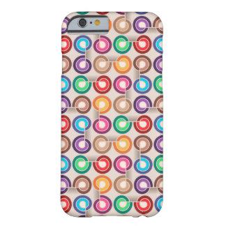 Caja abstracta colorida divertida funda para iPhone 6 barely there
