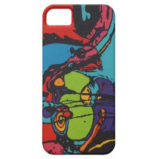 caja abstracta colorida funda para iPhone SE/5/5s