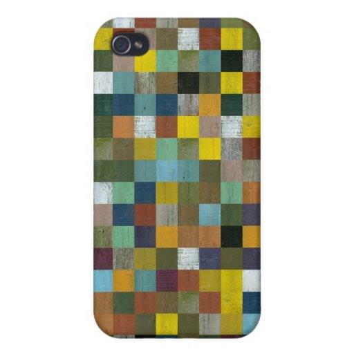 Caja abstracta de madera rústica reciclada del iPh iPhone 4 Cobertura