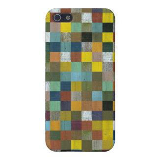 Caja abstracta de madera rústica reciclada del iPh iPhone 5 Protector