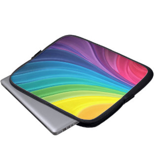Caja abstracta del ordenador del arco iris funda para portátil