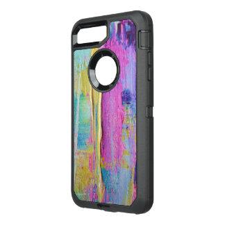 Caja abstracta del teléfono celular de la pintura funda OtterBox defender para iPhone 8 plus/7 plus